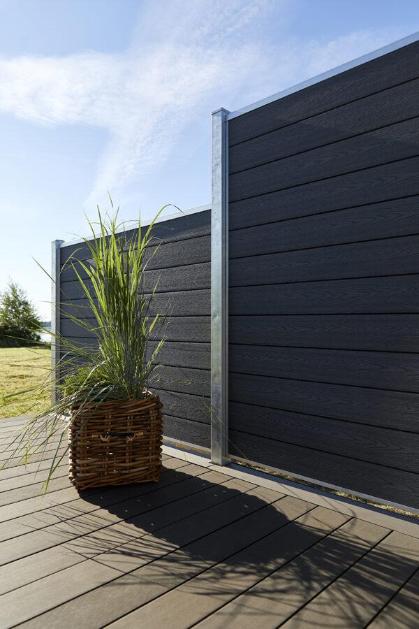 Kompozītmateriāla terases margas un nožogojums