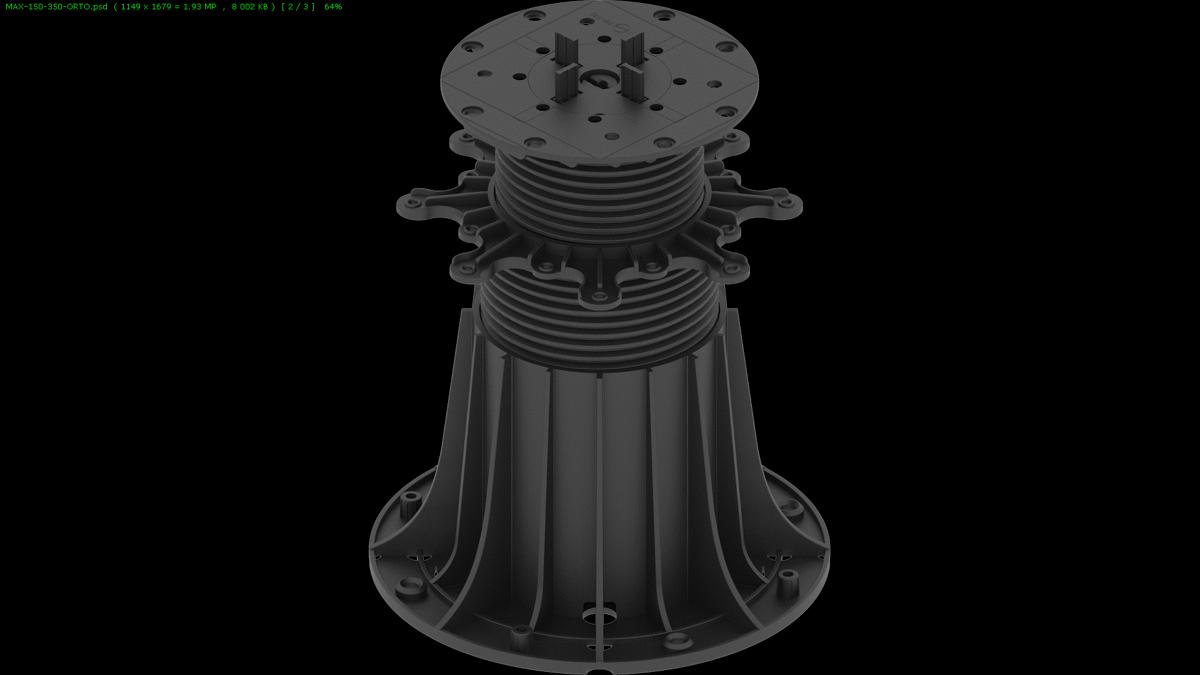 DD Pedestals Max regulējami terases balsti 150-350 mm